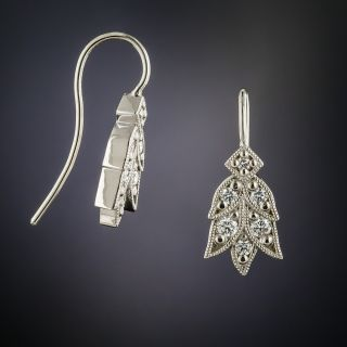 Lang Collection Platinum Laurel Diamond Earrings