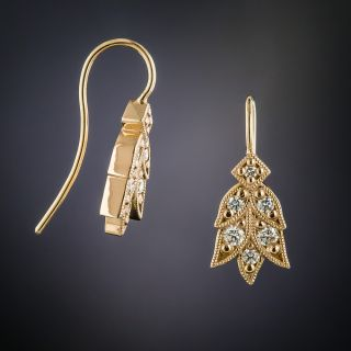 Lang Collection Rose Gold Laurel Diamond Earrings