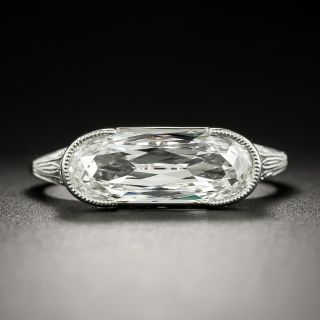 Lang Collection Unique 2.18 Carat Elongated Oval Diamond Ring - GIA J VS1 - 3