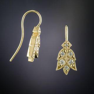Lang Collection Yellow Gold Laurel Diamond Earrings