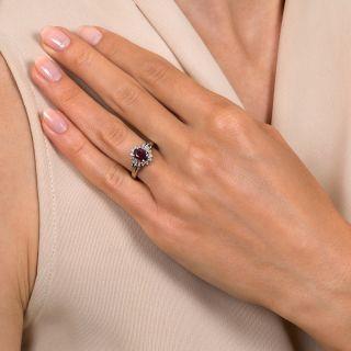 Estate 1.17 Carat Ruby and Diamond Ring