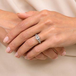 Art Deco 1.01 Carat Diamond Engagement Ring - GIA J VVS2