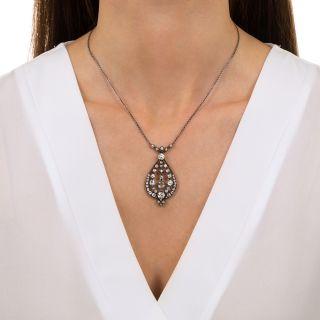 Austro-Hungarian Antique Diamond Pendant Necklace