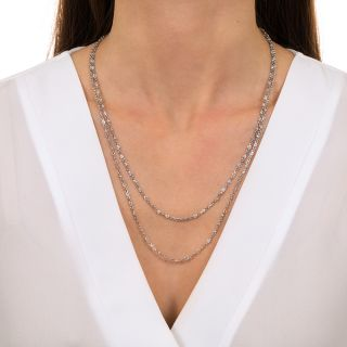 42-Inch Platinum Diamonds-By-The-Yard Necklace - 6.65 carats