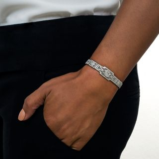 Art Deco Diamond Filigree Bracelet