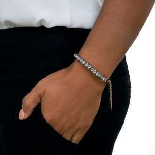 Victorian Rose-Cut Diamond Bangle Bracelet