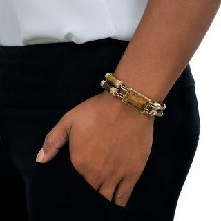Victorian Scottish Agate Link Bracelet