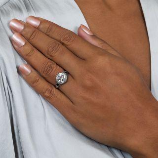 Art Deco 3.08 Carat Diamond Engagement Ring - GIA I VS1