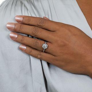 Lang Collection 3.03 Carat Antique Cushion-Cut Diamond Engagement Ring - GIA I VS1
