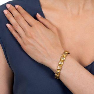 Victorian Domed Link Diamond Bracelet