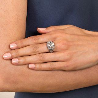 Art Deco 2.28 Carat Diamond Engagement Ring - GIA J VS2