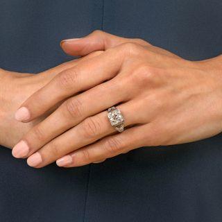 Art Deco 2.21 Carat Diamond Platinum Engagement Ring - GIA I SI2