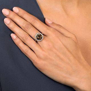 5.45 Carat Natural Fancy Brown Diamond Cluster Ring - GIA