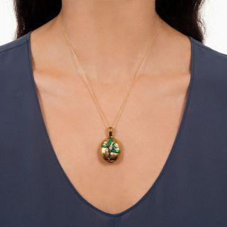 Victorian Oval Mistletoe Locket