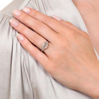 Art Deco 1.55 Carat Emerald-Cut Diamond Engagement Ring - GIA E VS1