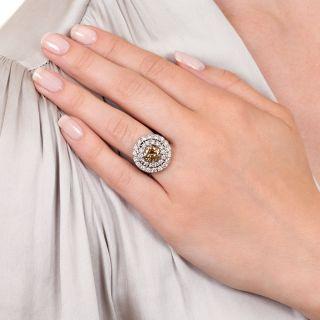 1.81 Carat Fancy Brown-Yellow Diamond Ring - GIA