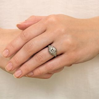 Art Deco .73 Carat Diamond Engagement Ring