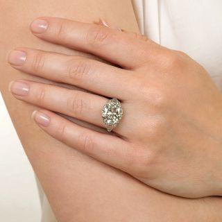 Art Deco 5.25 Carat Diamond Engagement Ring - GIA M VS2