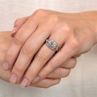 1940s Diamond Palladium Engagement Ring - Granat Brothers
