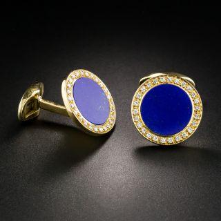 Lapis Lazuli Diamond Cuff Links - 1