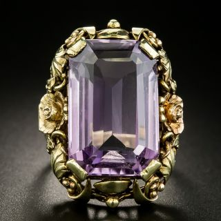 Large Arts and Crafts Amethyst Ring - 2