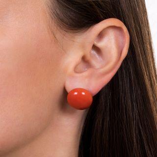 Large Coral Stud Earrings