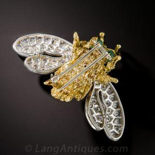 Large Diamond Winged Bee Brooch