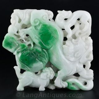 Large Double-Sided Jade Carving