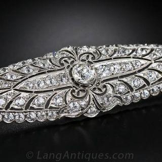 Large Edwardian Diamond Brooch