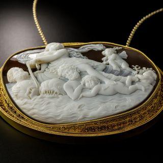 Large Etruscan Revival Mythological Shell Cameo