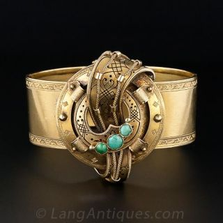 Antique French Cuff Bracelet
