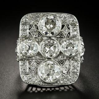 Large Late Edwardian Diamond Dinner Ring - 2