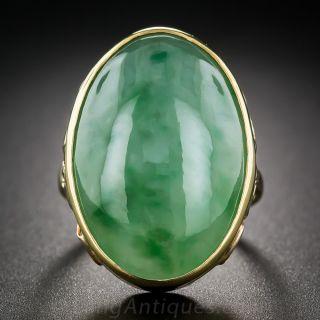 Large Natural Burmese Jade Ring