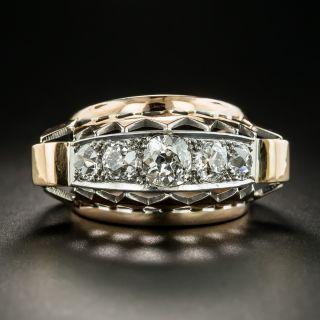 Large Retro Five-Stone Diamond Ring - 2