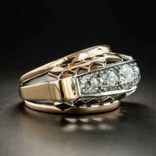 Large Retro Five-Stone Diamond Ring