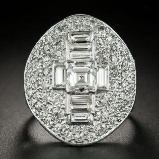 Large Scale Art Deco Diamond Dinner Ring - 3