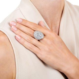 Large Scale Art Deco Diamond Dinner Ring