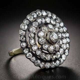 Large-Scale Victorian Diamond Cocktail Ring