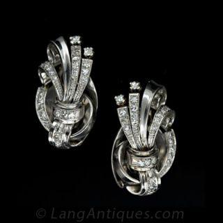 Midcentury Diamond Earrings