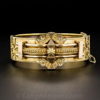 Large Victorian Hinged Bangle Bracelet
