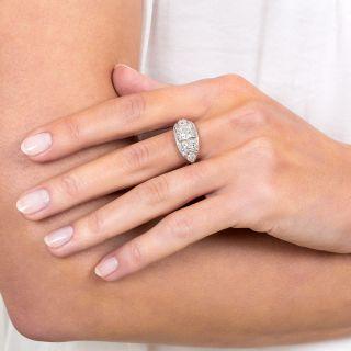 Late Art Deco 1.11 Diamond Engagement Ring - GIA I VS1
