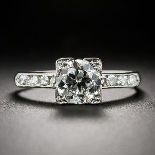 Late Art Deco 1.13 Carat Diamond Engagement Ring - 1