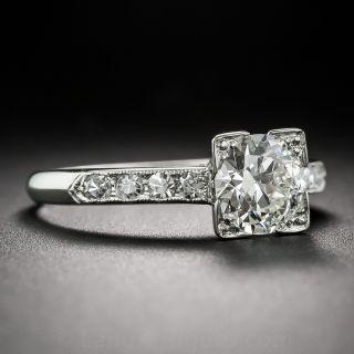 Late Art Deco 1.13 Carat Diamond Engagement Ring