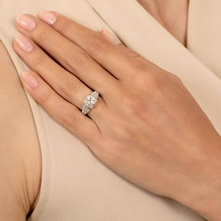 Late Art Deco 1.25 Carat Diamond Engagement Ring - GIA F SI1