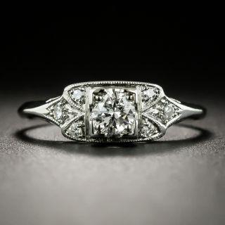 Late Art Deco .24 Carat Diamond Engagement Ring - 6