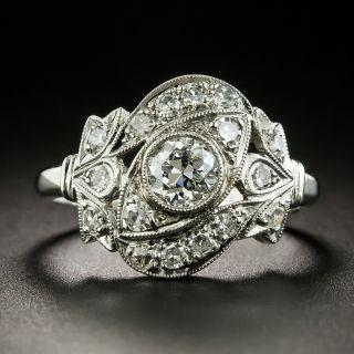 Late Art Deco .43 Carat Diamond Dinner Ring - 2