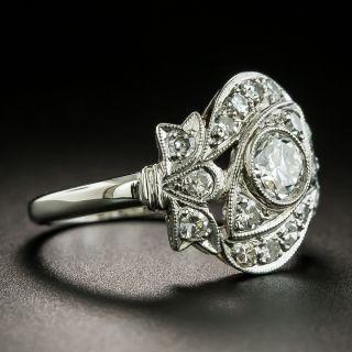 Late Art Deco .43 Carat Diamond Dinner Ring