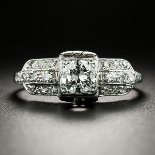 Late Art Deco .50 Carat Diamond Engagement Ring - 2