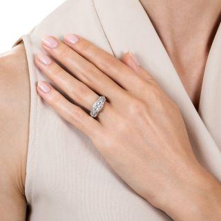 Late Art Deco .50 Carat Diamond Engagement Ring