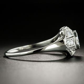 Late Art Deco .51 Carat Diamond Engagement Ring - GIA F VS1